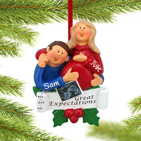 Personalized Great Expectations Happy Couple Christmas Ornament