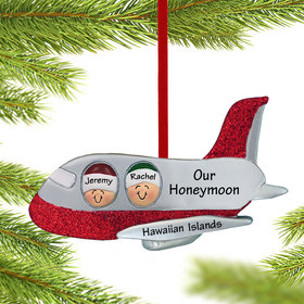 Personalized Airplane Couple Christmas Ornament