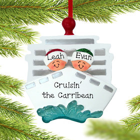 Personalized Cruise Ship Couple Christmas Ornament