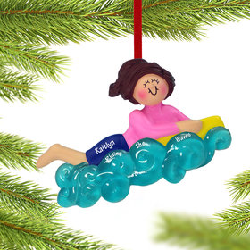 Personalized Boogie Board Girl Christmas Ornament