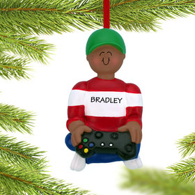 Personalized Video Game Boy Christmas Ornament