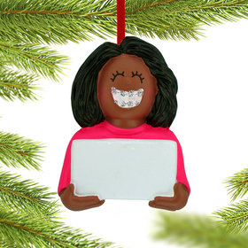 Braces On (Girl) Christmas Ornament