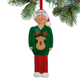 Personalized Ugly Christmas Sweater Contest Winner Christmas Ornament