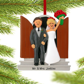 Personalized Newlyweds Christmas Ornament