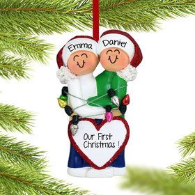 Personalized Christmas Couple Christmas Ornament