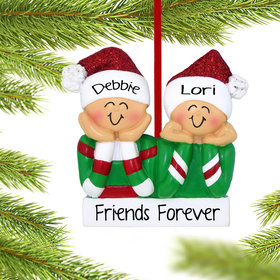 Personalized Head in Hands Couple Christmas Ornament