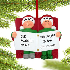 Personalized Night Before Christmas Couple Christmas Ornament