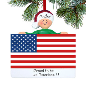 Personalized Patriotic Person Christmas Ornament