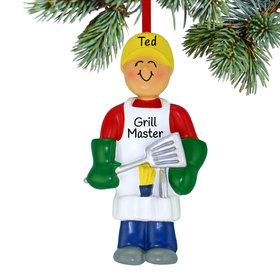 Personalized Grilling Out Christmas Ornament