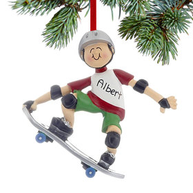 Personalized Skateboarder Christmas Ornament