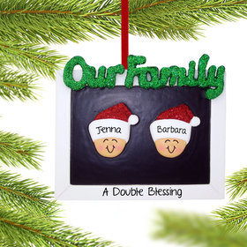 Personalized Our Family Couple Christmas Ornament