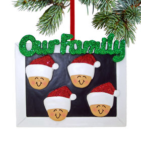 Our Family of 4 Christmas Ornament