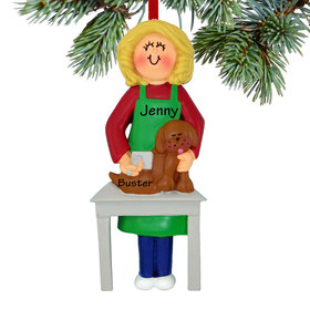 Personalized Dog Groomer Christmas Ornament