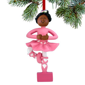 Ballet Dancer in Pink Tutu Christmas Ornament