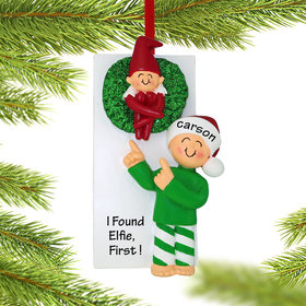 Personalized Finding the Elf Christmas Ornament