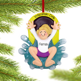 Personalized Water Slide Girl Christmas Ornament