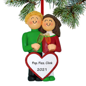 Personalized Anniversary Couple Christmas Ornament