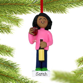 Personalized Wine Lover Christmas Ornament