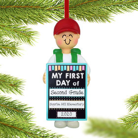 Personalized First Day of School Christmas Ornament