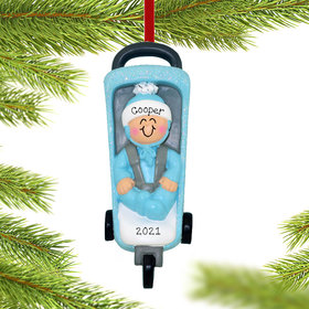 Personalized Baby Stroller Christmas Ornament