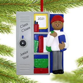 Personalized Teen at Locker Christmas Ornament