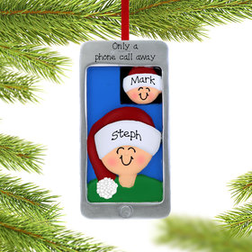 Personalized Facetime Christmas Ornament