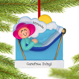 Personalized Retirement Lady Christmas Ornament