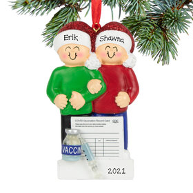 Personalized Vaccine Couple Christmas Ornament