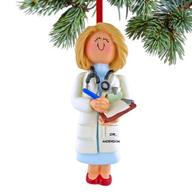 Personalized Doctor Female Christmas Ornament