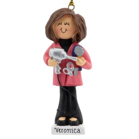 Personalized Hairdresser Christmas Ornament