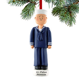 Personalized Navy Christmas Ornament