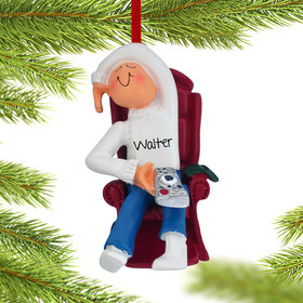 Personalized TV Watcher Christmas Ornament