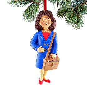 Personalized Business Female Christmas Ornament
