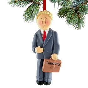 Personalized Business Male Christmas Ornament