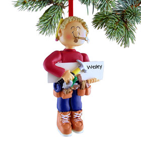 Personalized Handyman Christmas Ornament