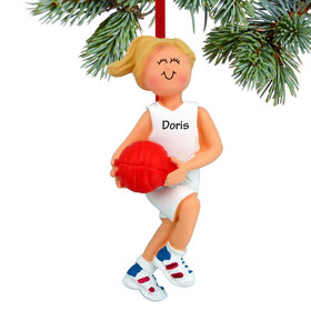 Personalized Basketball Player (Girl) Christmas Ornament