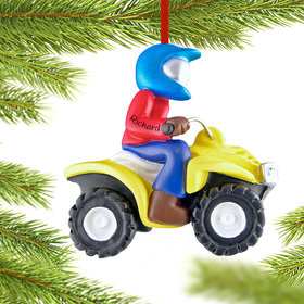 Personalized ATV 4 Wheeler Christmas Ornament