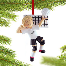 Personalized Volleyball Male Christmas Ornament