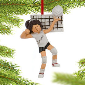 Personalized Volleyball Female Christmas Ornament