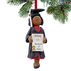 Personalized Graduate Female Christmas Ornament