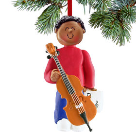 Cello Player Male Christmas Ornament