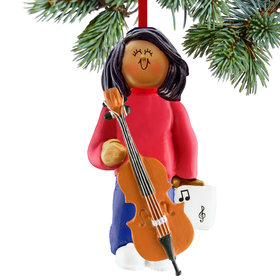 Cello Player Female Christmas Ornament