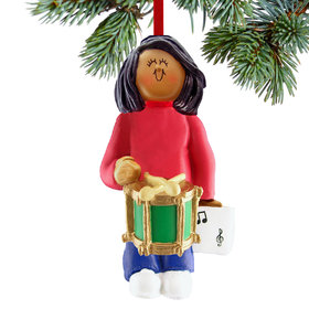 Drum Player Female Christmas Ornament