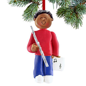 Flute Player Male Christmas Ornament