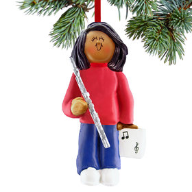 Flute Player Female Christmas Ornament