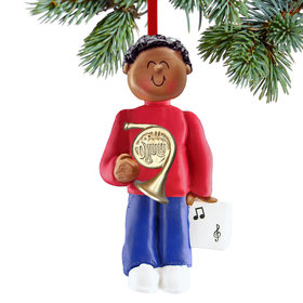 French Horn Player Male Christmas Ornament