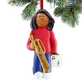 Trombone Player Female Christmas Ornament