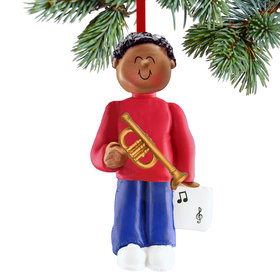Trumpet Player Male Christmas Ornament