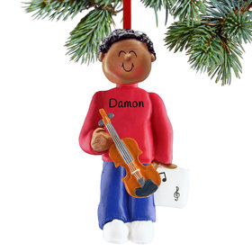 Violin Player Male Christmas Ornament