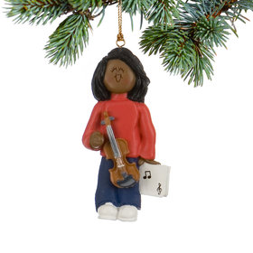 Violin Player Female Christmas Ornament